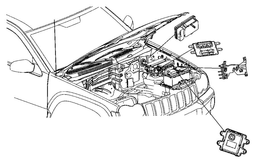 2007 jeep commander module  front control