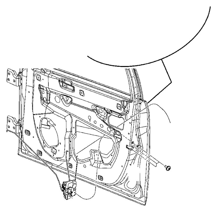 chrysler 300 link  key cylinder to latch