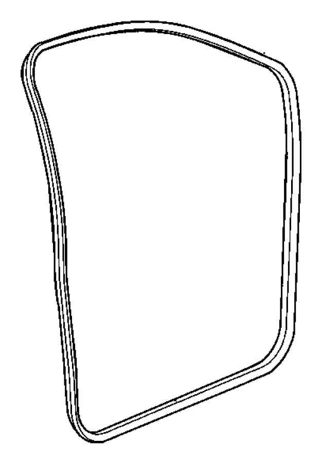 2008 chrysler aspen seal  front  body side