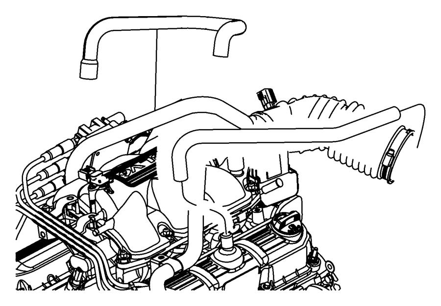 Jeep Wrangler Hose  Crankcase Vent  Make Up Air