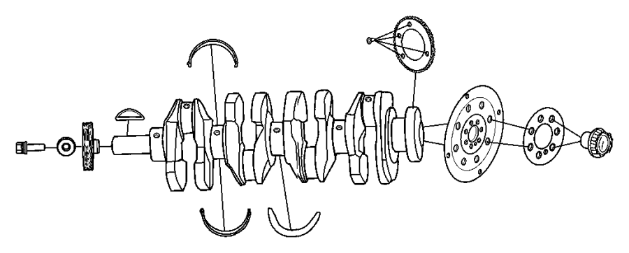 Showassembly on Crankshaft Sensor Reluctor Ring