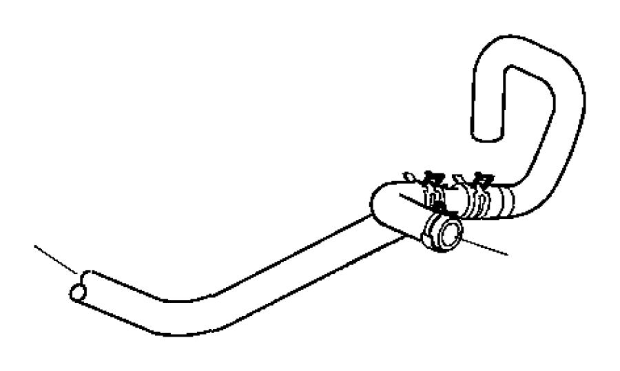 chrysler 300 hose  hose and tube  heater return  ezdezh