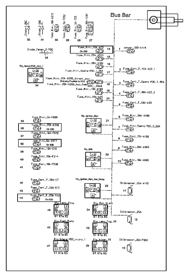 chrysler 300 fuse 60 amp iod fuse 05161423aa factory
