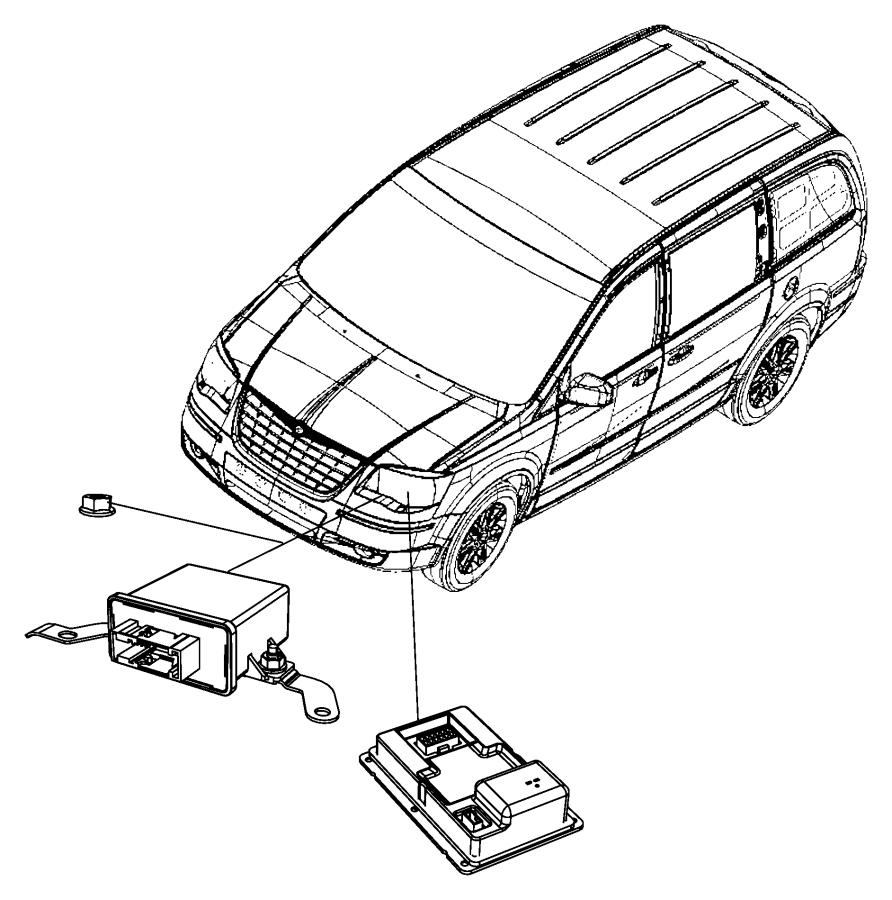 Chrysler Town & Country Module. Hid Ballast. Modulehid