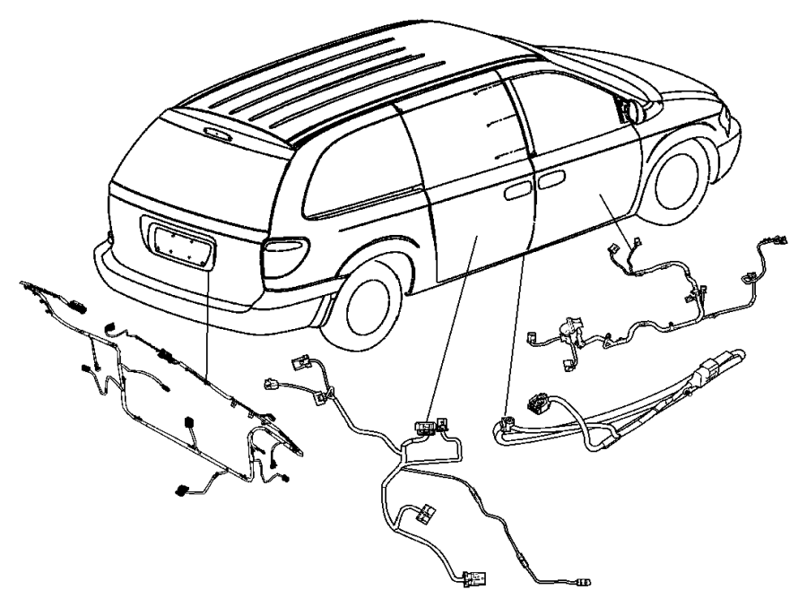 04868122ae chrysler wire track sliding door right 2005 town and country pcm wiring diagram