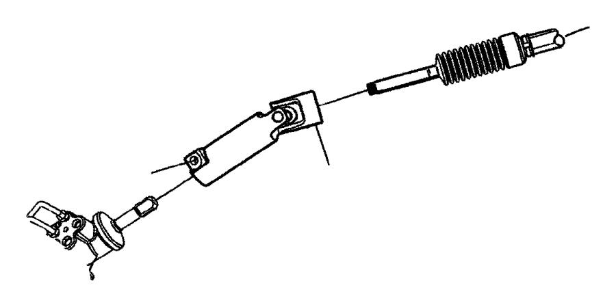 2006 Dodge Ram 1500 Shaft  Intermediate  Steering Column Intermediate  Lower  After 11  30  09