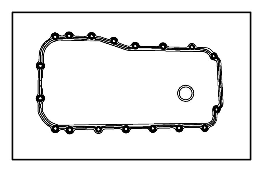 05241062ab Mopar Gasket Package Engine Oil Pan