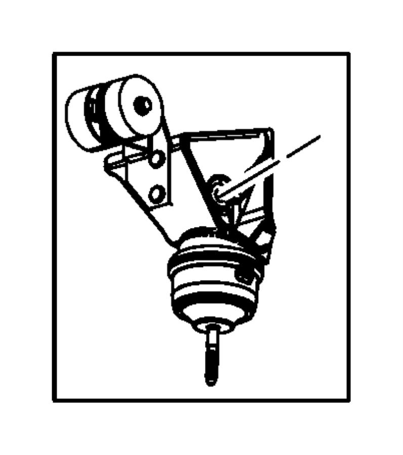 chrysler pacifica isolator  engine mount  rear