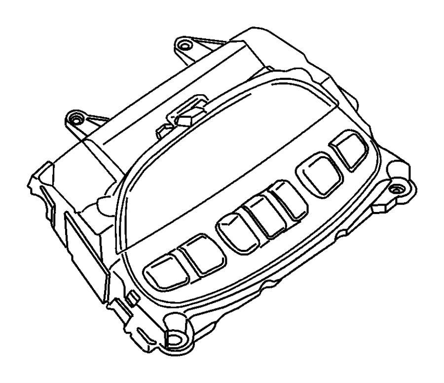 dodge ram 1500 module  evic module  overhead console  trim    o0