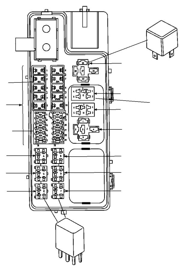 Dodge Ram 2500 Fusible link. 140 amp. 06101757, 140 amp ...