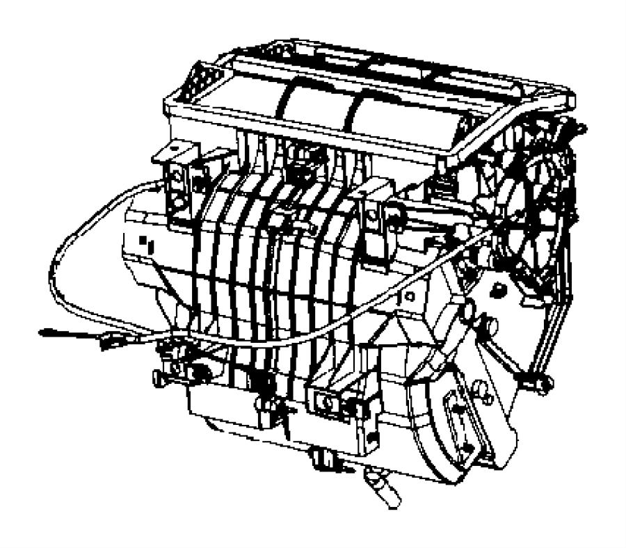 2007 Jeep Compass Cable  Mode  Temperature Control