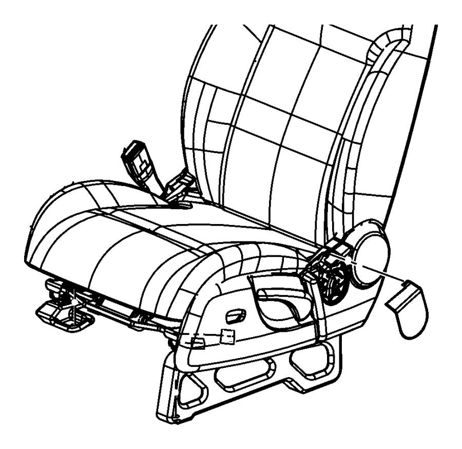 Jeep Liberty Cover  Seat Belt Anchor  Right   Da    Da