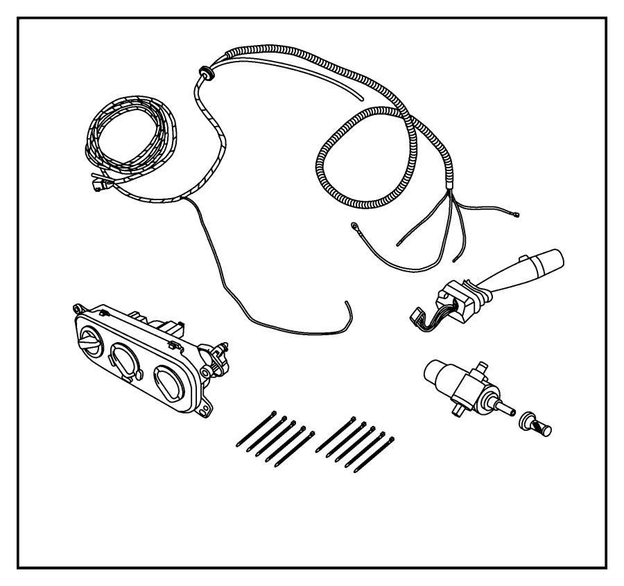 jeep wrangler hard top  wiring kit  enclosure  swb  operate  lwb