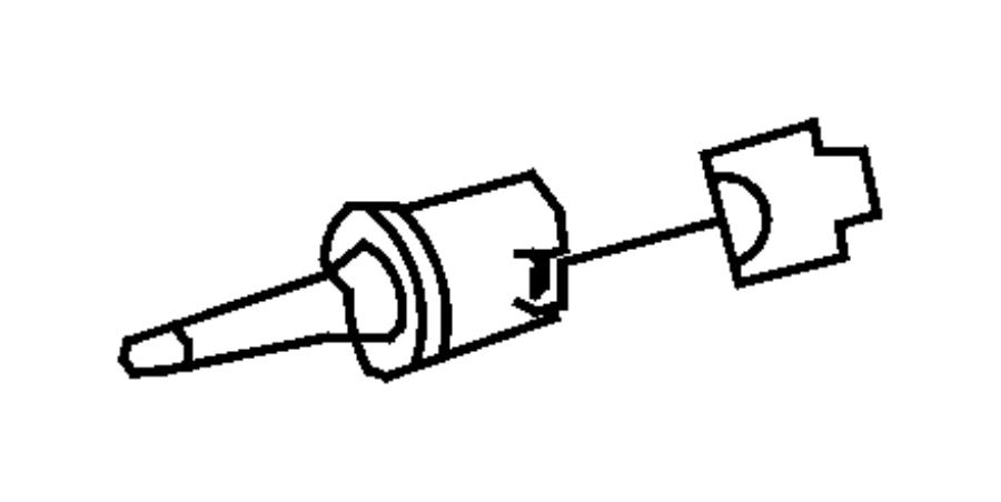 2005 chrysler crossfire limited roadster sensor  ambient