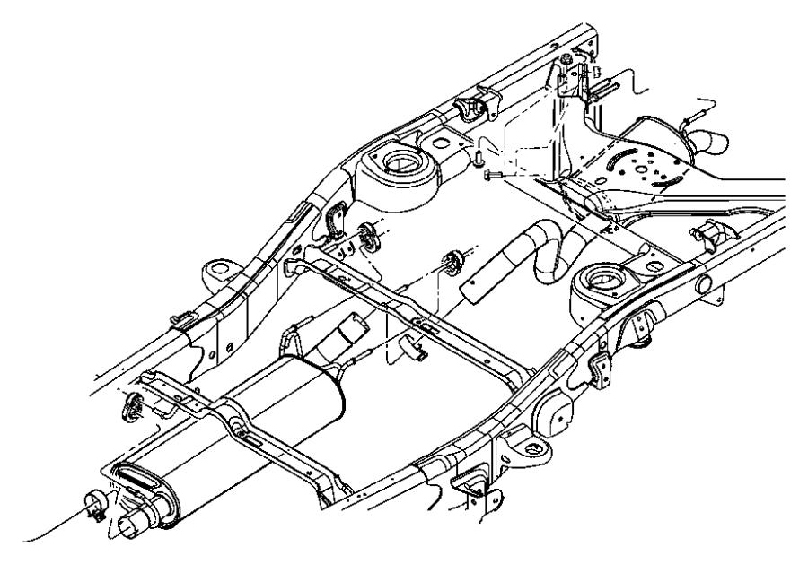 2008 chrysler aspen muffler and tailpipe  exhaust