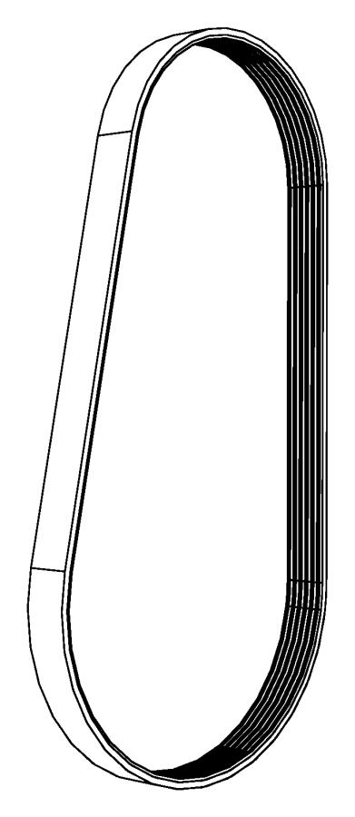 Dodge Ram 1500 Belt  Serpentine  Vbelts