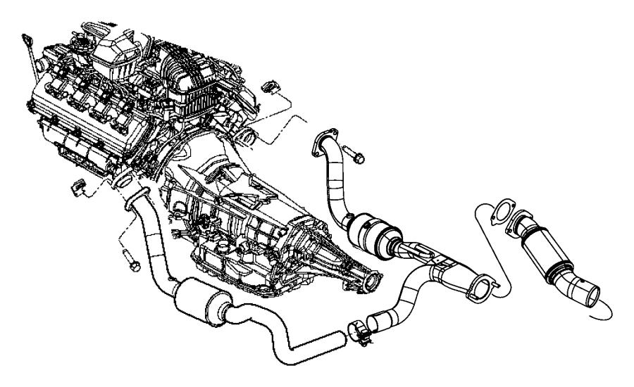 Chrysler Aspen Gasket Exhaust Pipe Evaevd 52855985aa