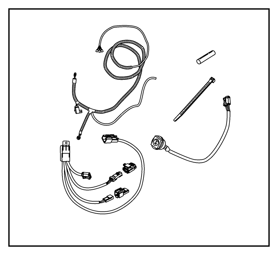 dodge ram 1500 wiring kit  off road  front mnt  front