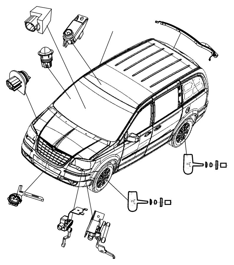 Chrysler Town & Country Sensor. Right. Pinch