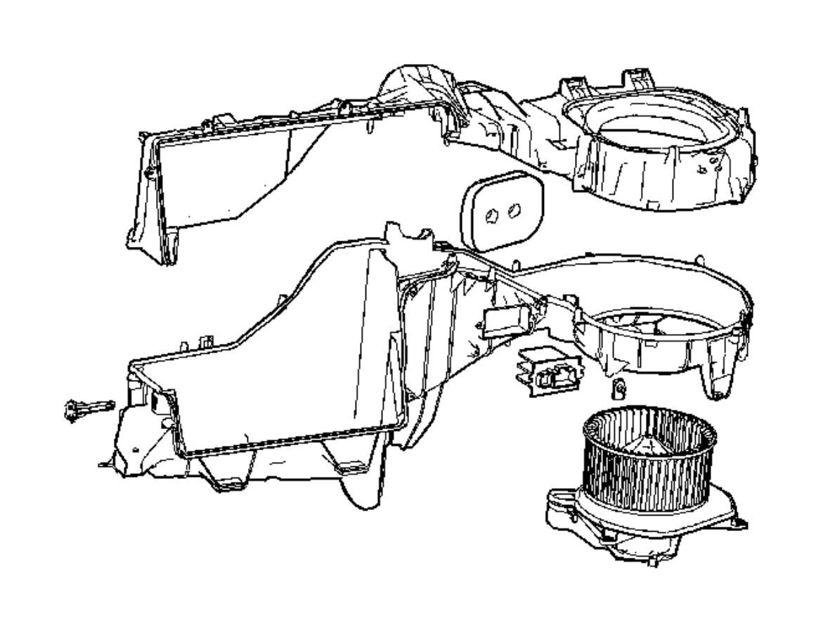2009 jeep grand cherokee resistor  blower motor   air