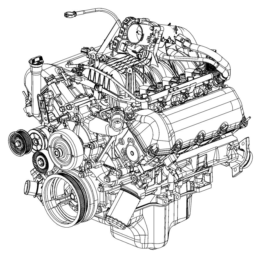2007 Jeep Liberty Engine  Long Block  See Note  Suggested