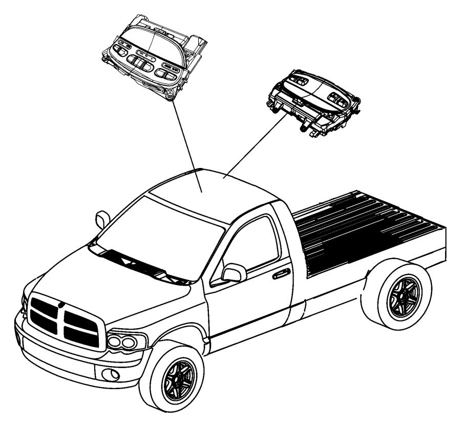 dodge ram 1500 module  evic module  overhead console  trim