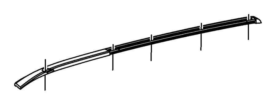 2007 Dodge Nitro Molding  Roof  Right   Side Roof Rails   Color   No Description Available
