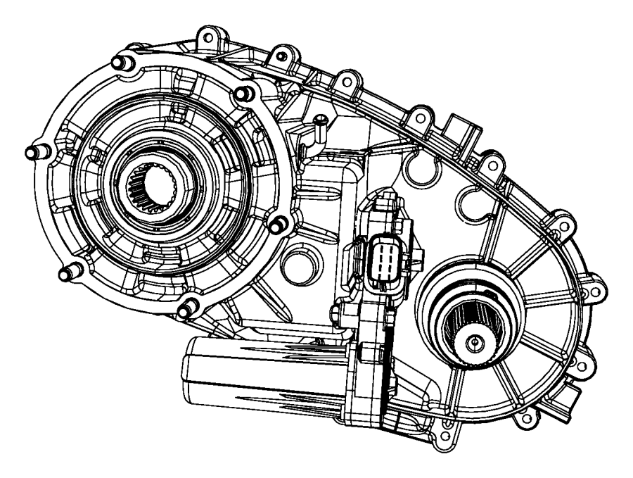 2012 Jeep Liberty Transfer Case  Without Damper