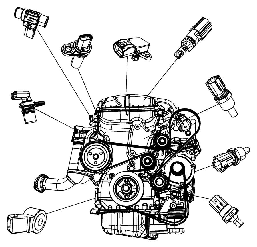 Dodge Caliber Sensor  Coolant Temperature  Temperature  Tempurature