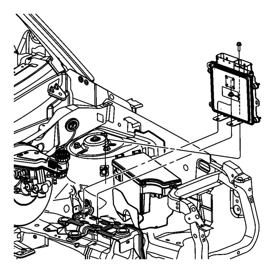 2010 Jeep Patriot Modules Engine Compartment