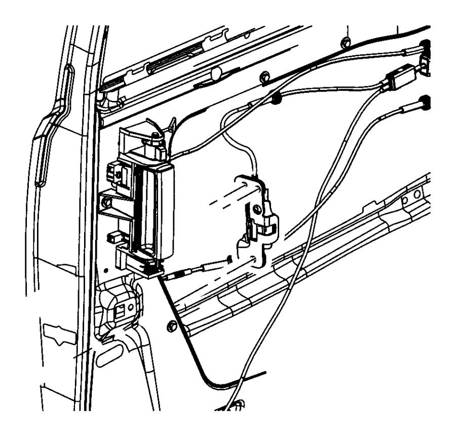 Dodge Grand Caravan Actuator  Left  Sliding Door  Lock