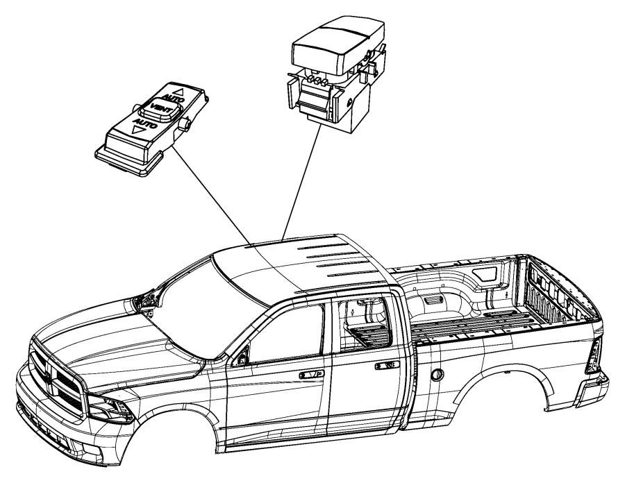 68065171ab 2012 Dodge Ram 1500 Parts Switch Sliding Window Power