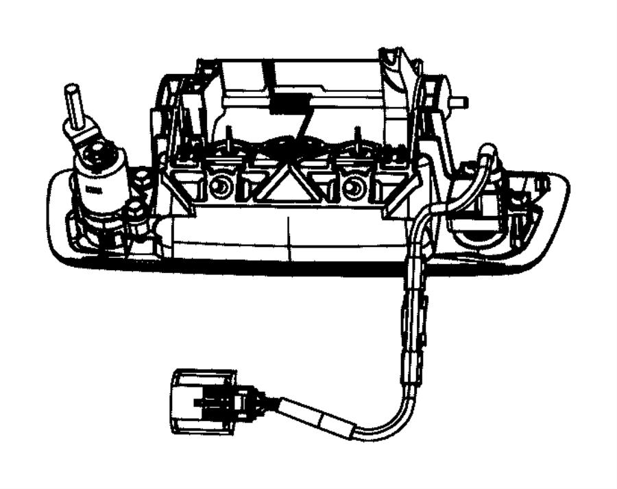 2012 Dodge Ram 2500 Handle  Tailgate  Tailgateblacklt