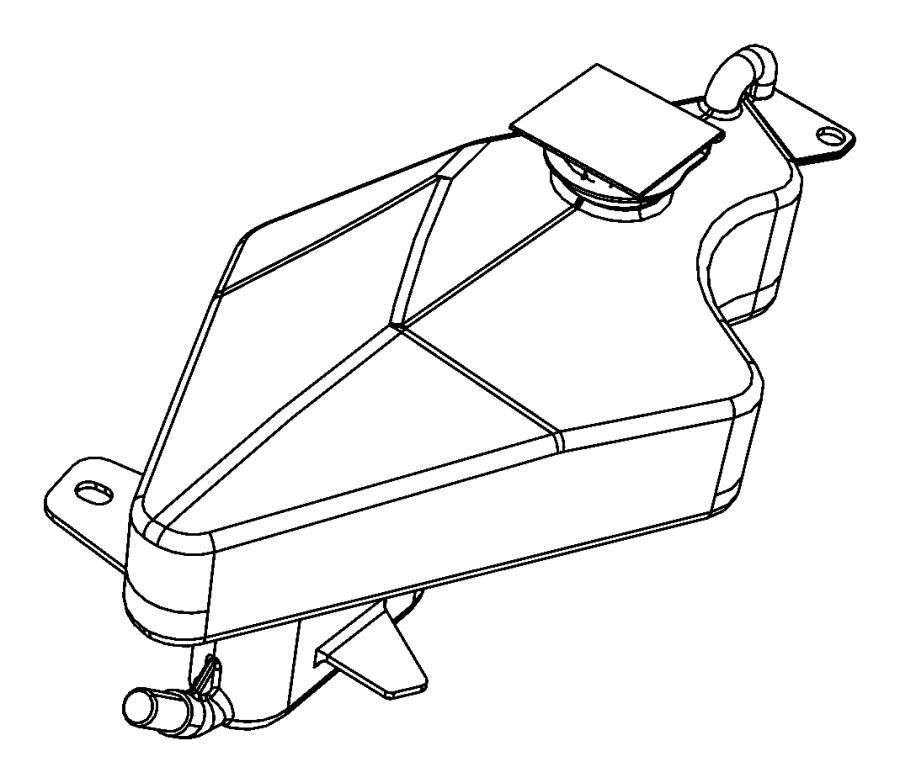 dodge grand caravan cap  coolant recovery bottle  coolant reserve tank