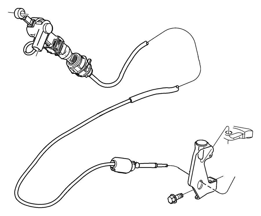 52107846AH - Chrysler Cable. Shift