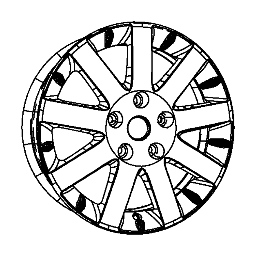 2014 Chrysler Town & Country Wheel. Aluminum. Front Or
