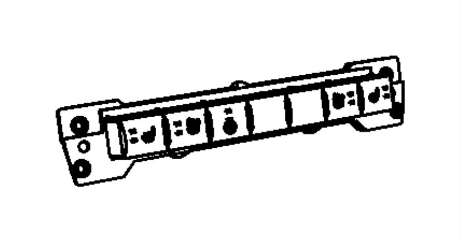 2012 dodge ram 5500 switch  instrument panel  moduleip