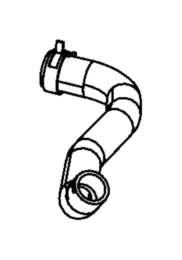 2014 dodge charger hose  radiator outlet