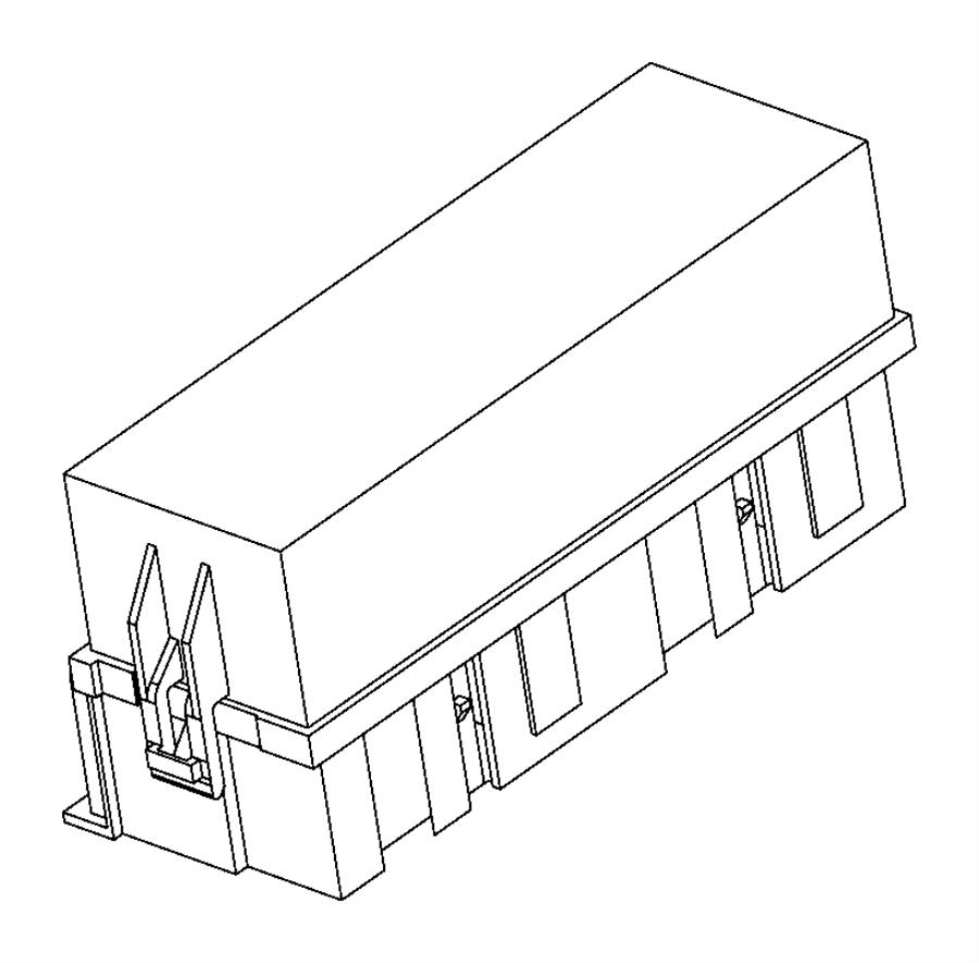 chrysler 200 cover  power distribution center  upper cover