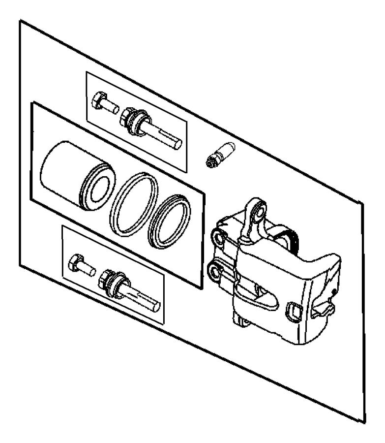 chrysler 300 caliper  caliper assembly  right  disc brake  rear