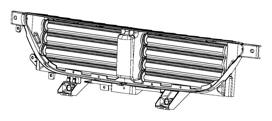 2013 dodge dart grille  active shutter  shutters  acutator