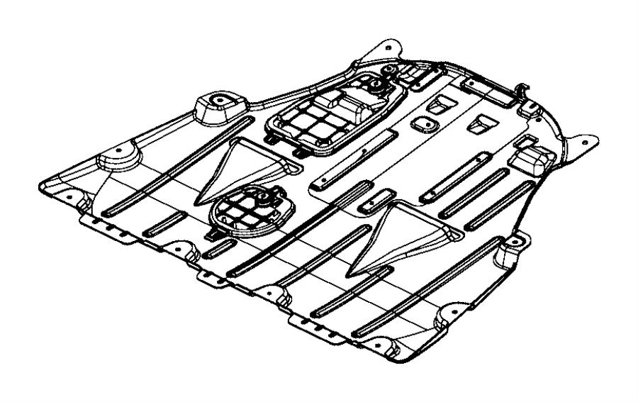 2015 chrysler 200 belly pan  front   3 6l v6 24v vvt engine