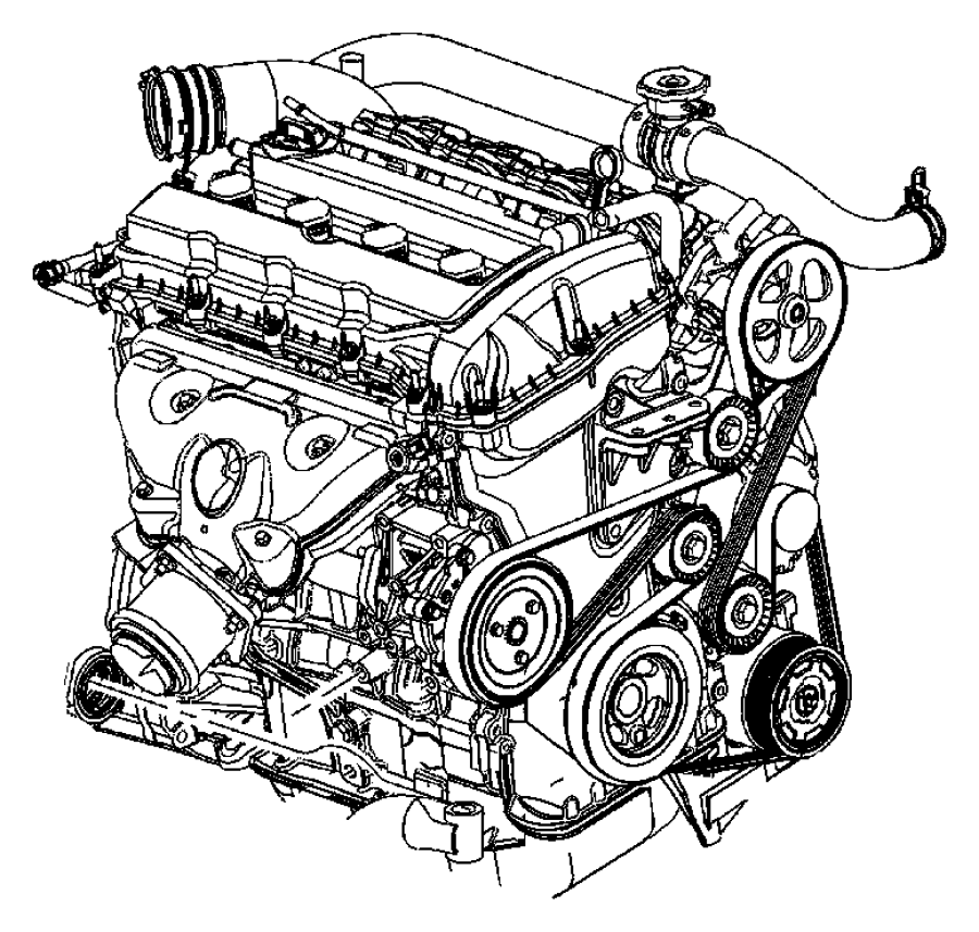 2016 Dodge Journey Engine  Long Block