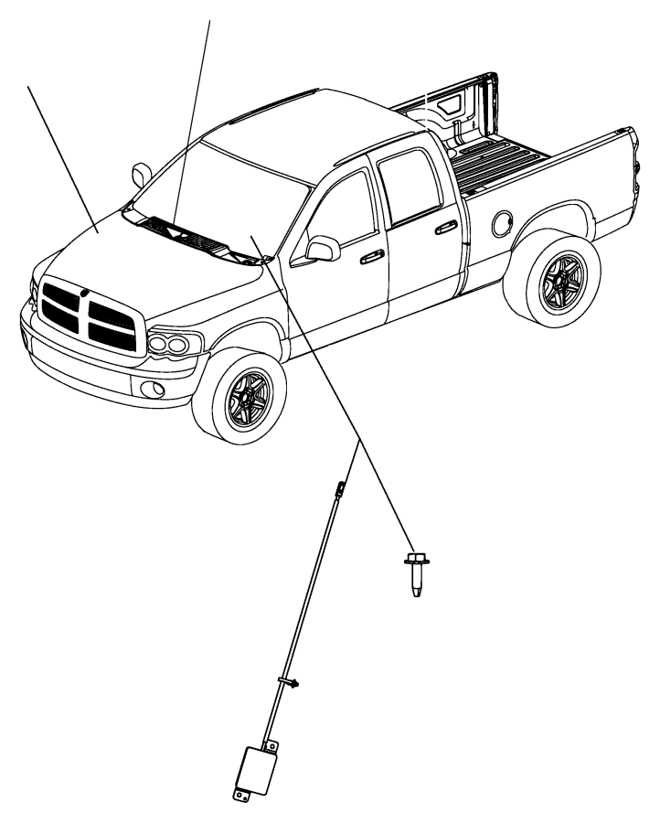 dodge ram 1500 antenna  used for  remote start and keyless entry