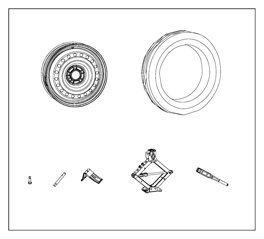 2016 dodge grand caravan spare tire kit includes compact