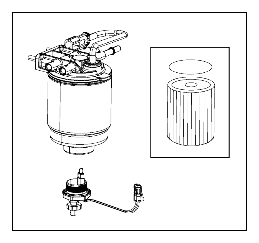 Dodge Ram 3500 Filter Housing Fuel Fuel Water Separator