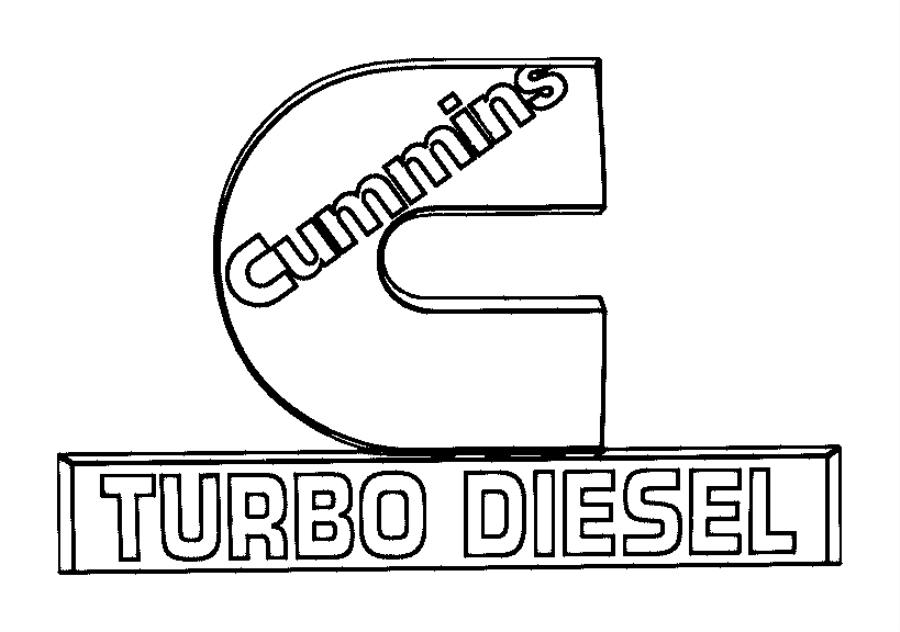 dodge ram 5500 nameplate  front fender  cummins diesel 6 7