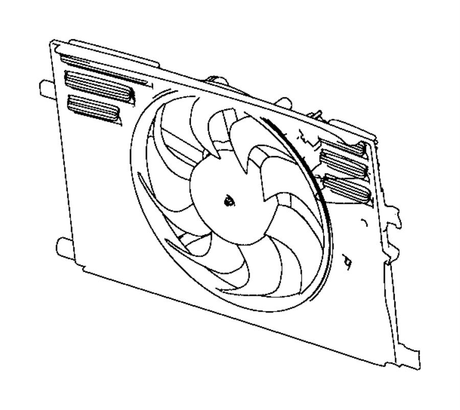 68247205aa Chrysler Fan Module Export Radiator Cooling