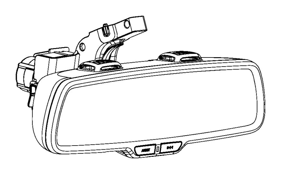 2016 jeep grand cherokee mirror  inside rear view   rr view auto dim mirror w  microphone    auto