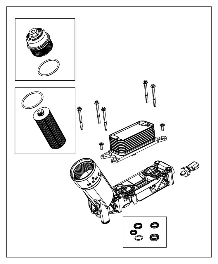dodge grand caravan cap kit  oil filter housing   engine oil cooler